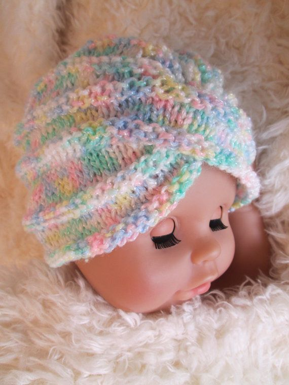 Infant knit baby girl turban crochet baby turban by ...