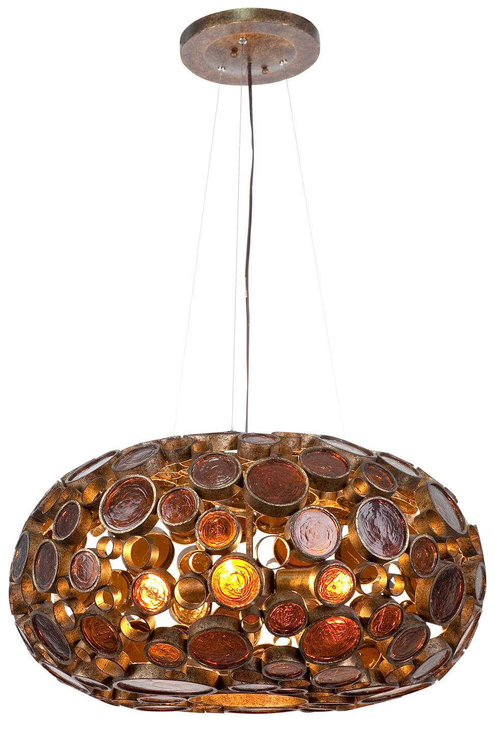 Fascination Collection 4-Light Chandelier by Varaluz at Gilt