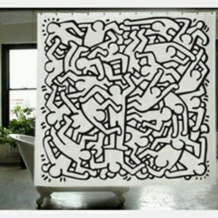One Of My Two Keith Haring Shower Curtains