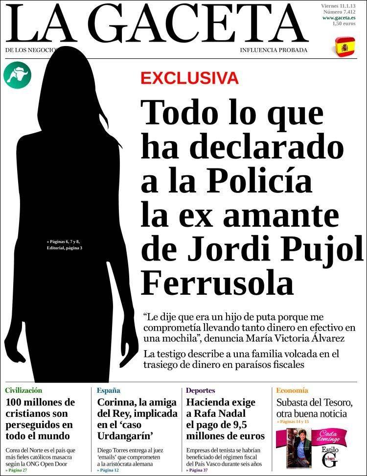 Titulares Y Portadas De Noticias Del 11 De Enero De 2013 Del Diario La Gaceta De Los Negocios Que Le Parecio Esta Por Portadas De Diarios Portadas 11 De Enero