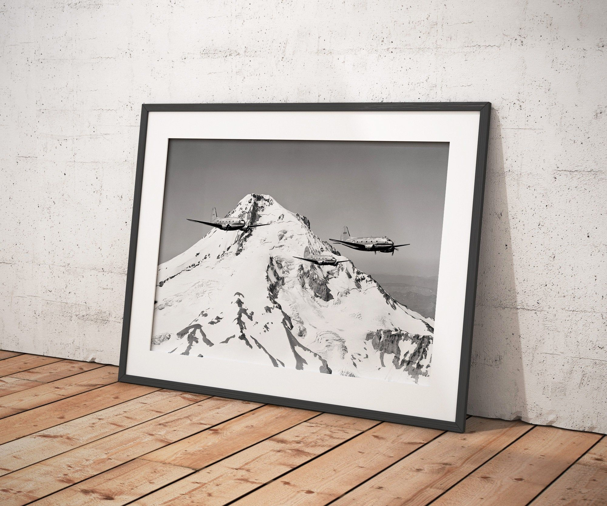 Air Force Planes Flying Over Mt Hood Print From Original 1951 Negative Vintage Military Photography Oregon Wall Art Airplane Print In 2020 Airplane Print Military Photography Fine Art Prints