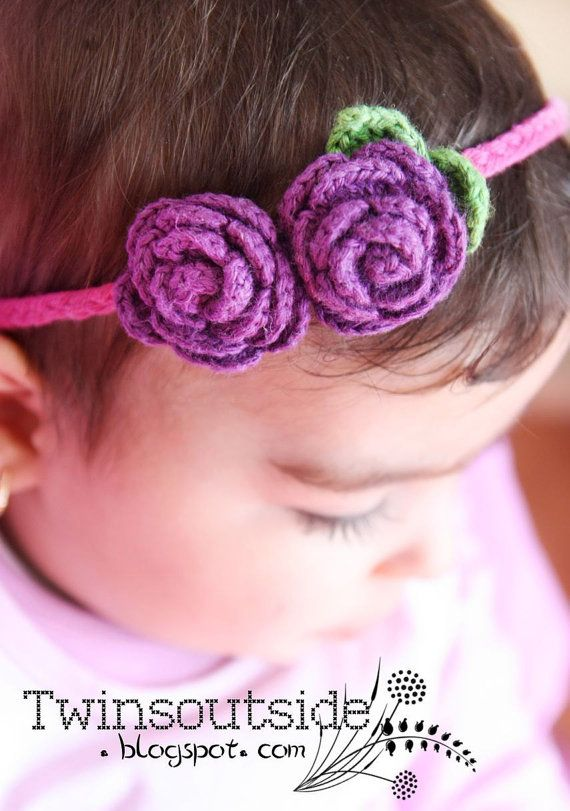 Items similar to Flower Headband, Baby Hair Accessories, Purple and Pink on Etsy #babyhairaccessories