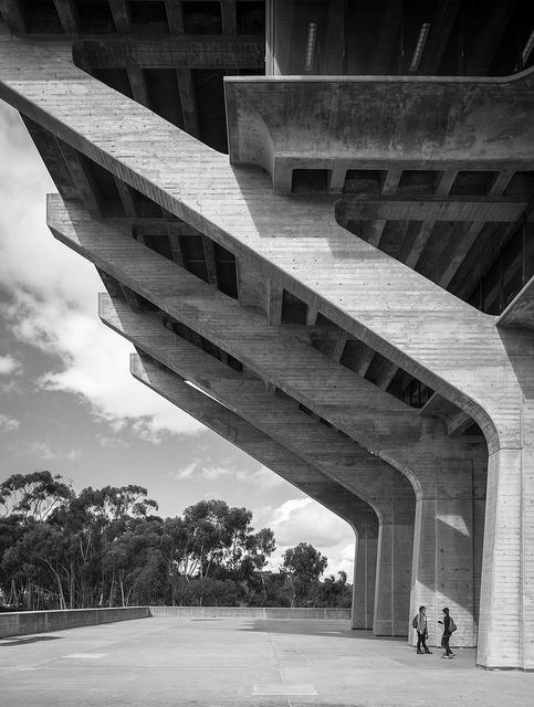 UCSD Geisel Library by Darren Bradley Architect: William Pereira & Associates, with Gin Wong, project architect (1970) Location: University of California at San Diego (La Jolla)