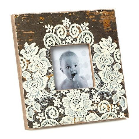 lace glued to wooden frame | Do it yourself | Pinterest | Wooden ...