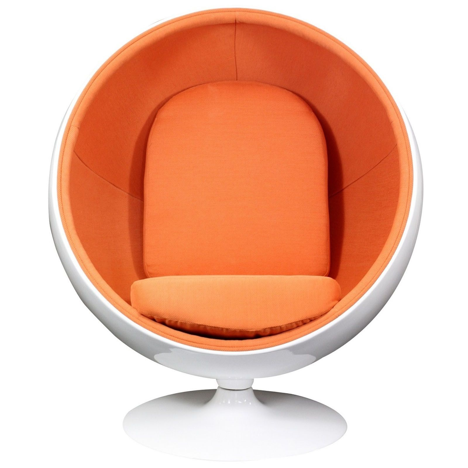 Kaddur Lounge Chair In Orange Pinterest Products - Lobster-and-shelly-lounge-chairs-by-oluf-lund-and-eva-paarmann