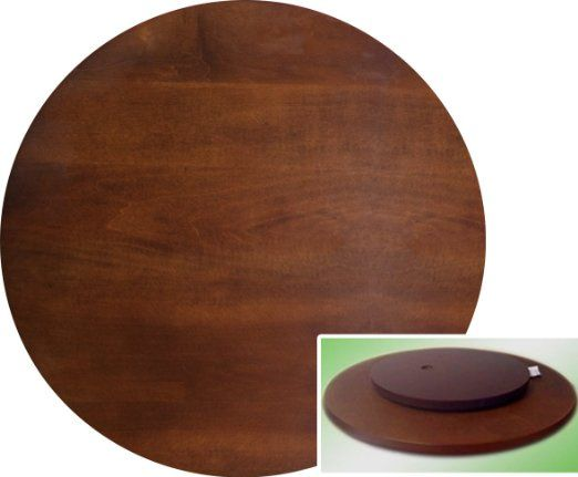 "Large Lazy Susan New Amazon  22"" Espresso  Cappuccino Finish Large Lazy Susan 2018"