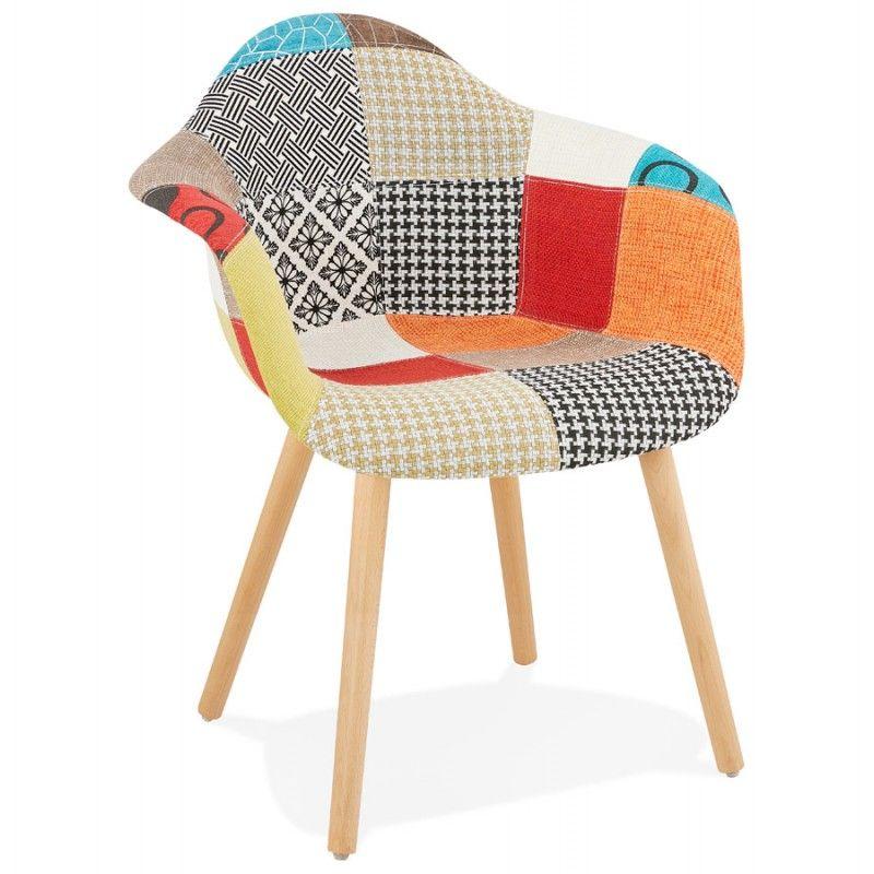 Chaise Design Et Boheme Patchwork Avec Accoudoirs Ophelie En Tissu Multicolore Fauteuil Design Chaise Design Kokoon Design