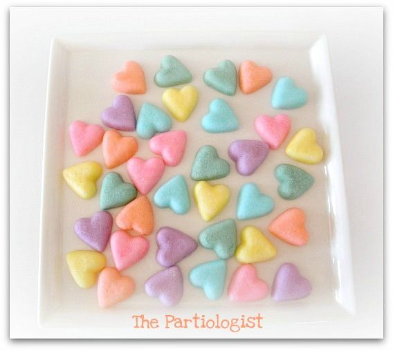 The Partiologist: Conversation Heart Party - Cream Cheese Mints ...