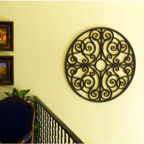 Faux Wrought Iron Window Inserts | Faux Wrought Iron   Wall And Niche Decor