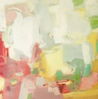 February by Christina Baker, acrylic on canvas, 12x12, $210 available in the Found Gallery at Artsy Forager,