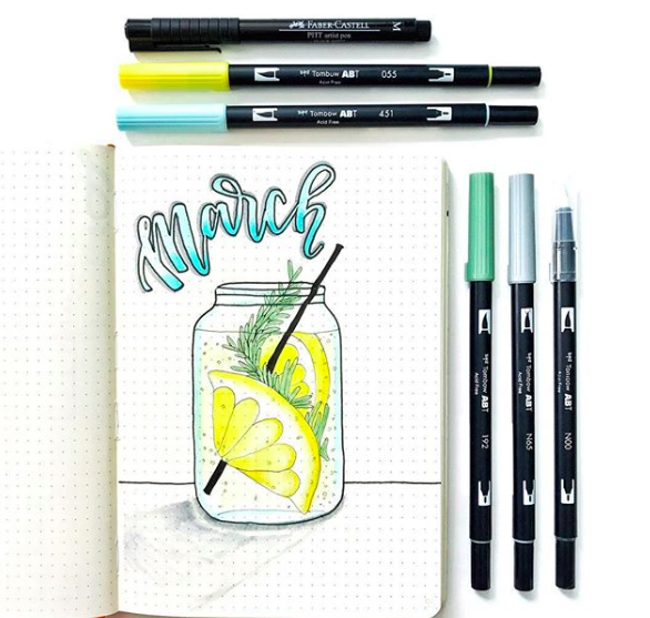 Amazing Bullet Journal Monthly Cover Ideas For Summer #augustbulletjournal