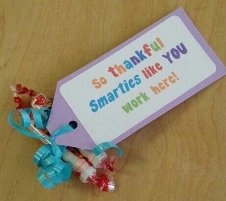 So thankful I got to work with smarties like you! #employeeappreciationideas