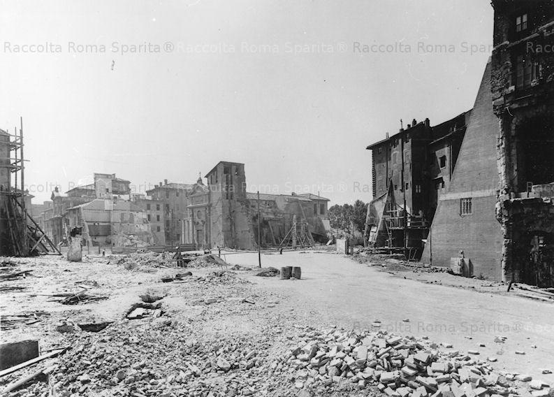 Foto storiche di roma via del mare e la chiesa di san - Da roma porta verso il mare ...