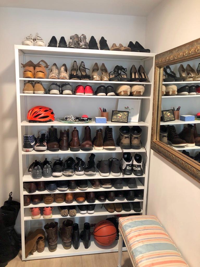 Ikea Shoe Shelf For Big Feet And Big Collection In 2020 Ikea Shoe Storage Ikea Shoe Shoe Organizer Ikea