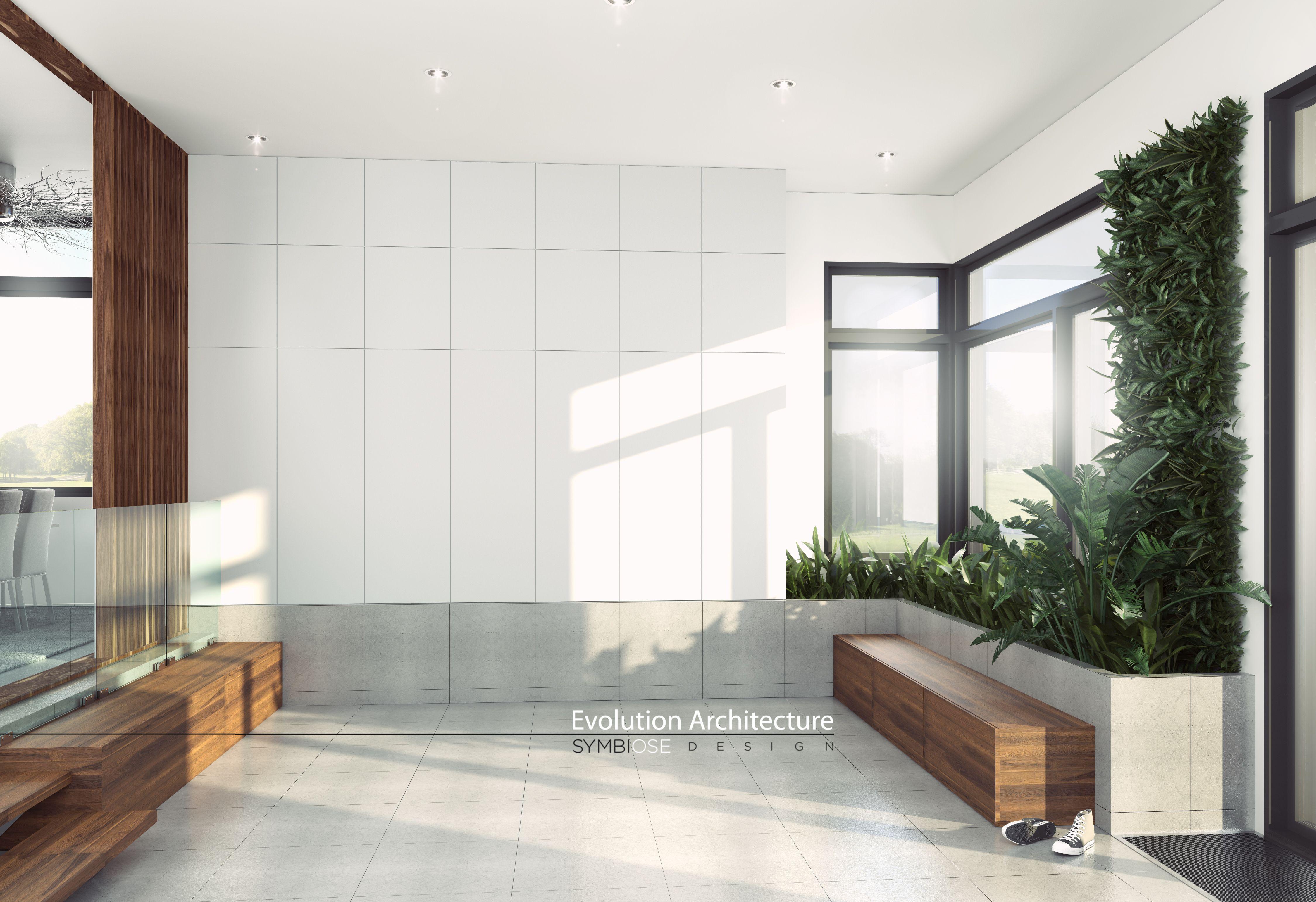 Evolution Architecture & Symbiose Design, design intérieur Hall d ...