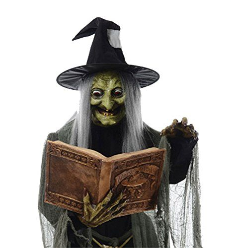 Review Life Size Animated SPELL SPEAKING WITCH Haunted House