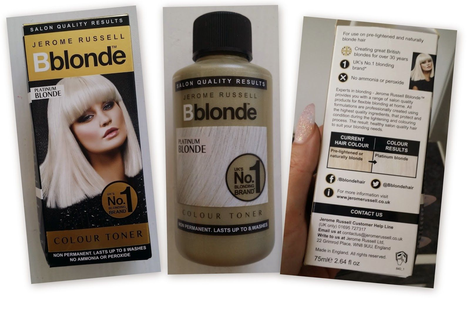 Jerome Russell Bblonde Platinum Blonde Colour Toner Review And A