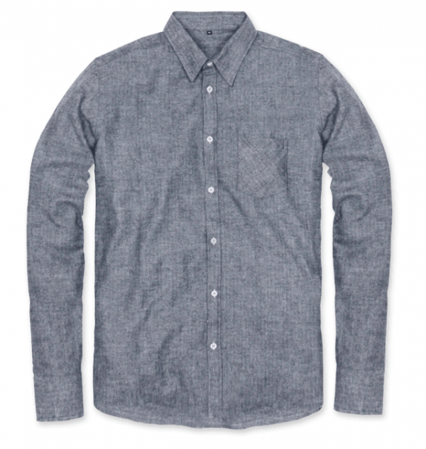 Eco Friendly   Sustainable Men s Herringbone Grey Flannel Shirt ... 410b12ca4c