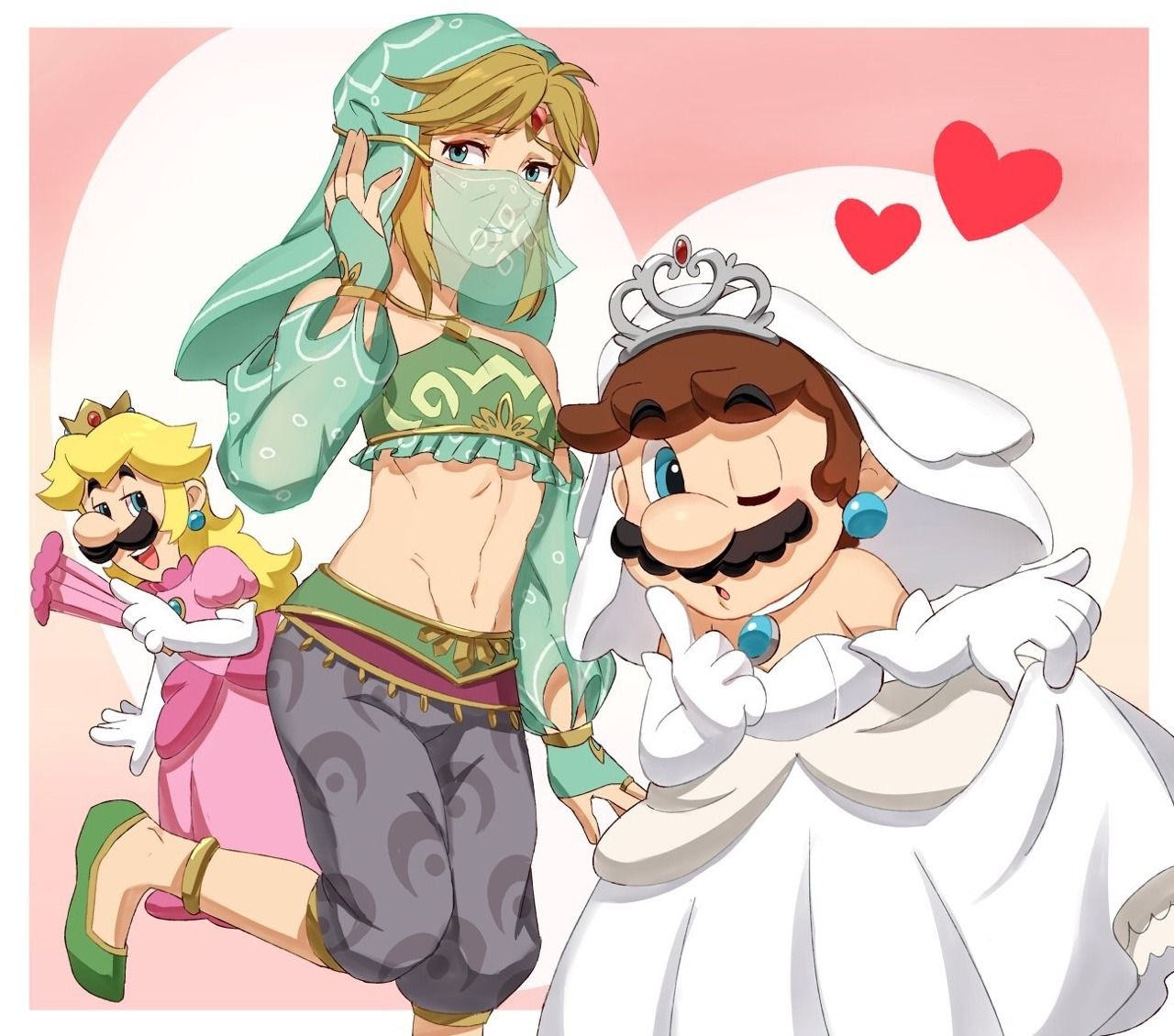 Mario, Luigi and Link Rocking it, guys! Mario and luigi
