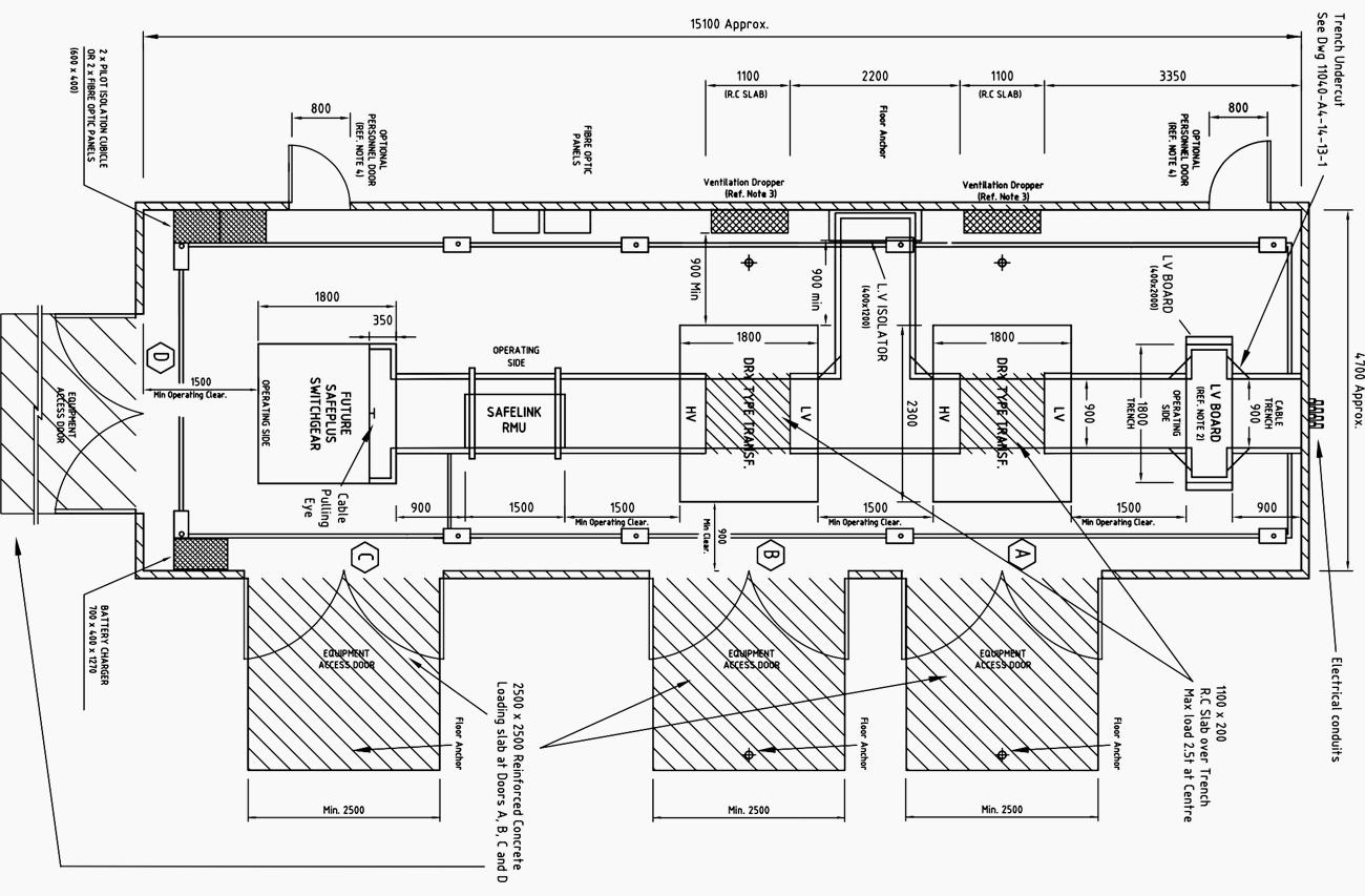 Indoor substation typical layout power substations for Electrical substation pdf