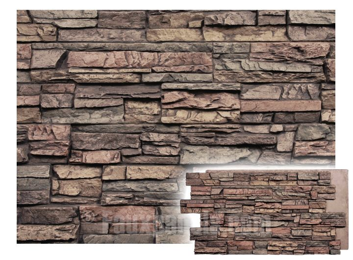Regency Stacked Stone Earth Panel W 49 1 4 H 25 2 Thick Faux Stone Panels Stone Panels Exterior Stacked Stone