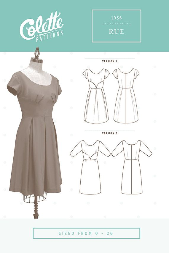 Colette Sewing PATTERN - Rue Dress   Products   Colette patterns