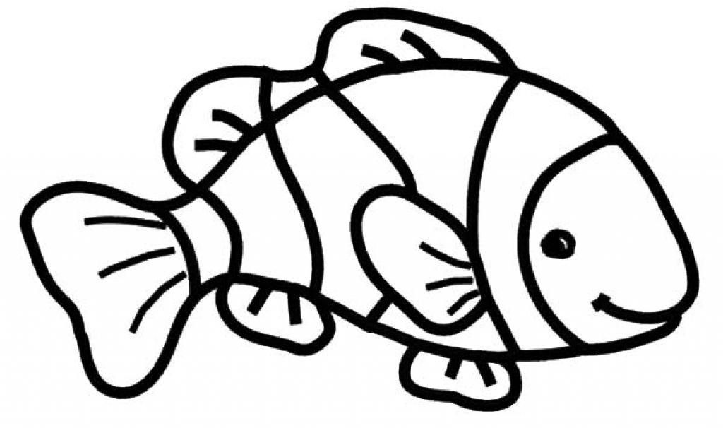 1024x606 Clown Fish Coloring Page 43952 Risingupagainstfgm For Clown Fish Fish Coloring Page Shark Coloring Pages Fish Clipart