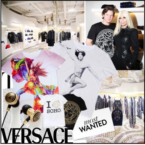 """Versace Soho"" by sandrascloset ❤ liked on Polyvore"
