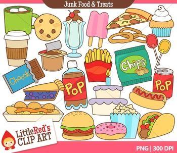 Clip Art Junk Food And Treats Food Themed Clipart Food Clips Junk Food Clip Art