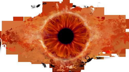 Oko Saurona Sauron Mordor Oko Sauron Mordor Eye Sinie Uzory Zhivopis Oboi