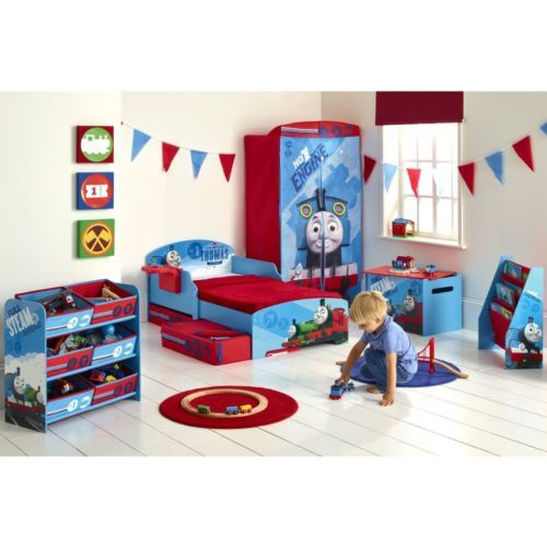 Details About Thomas Friends Todder Bed With Storage Shelf