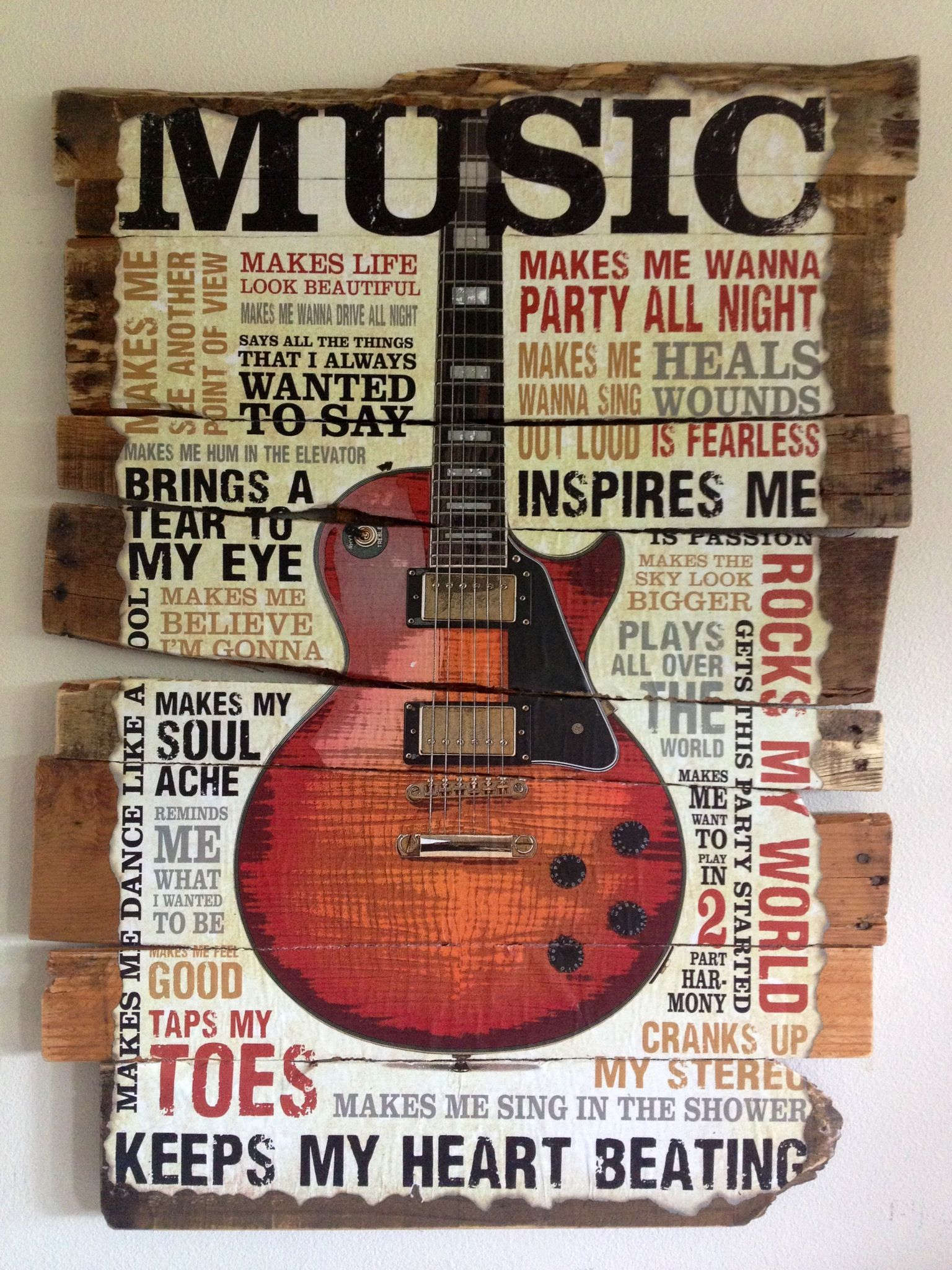 Rustic music poster on pallets. Perfect for the walls! www.robertnixcomposer.com