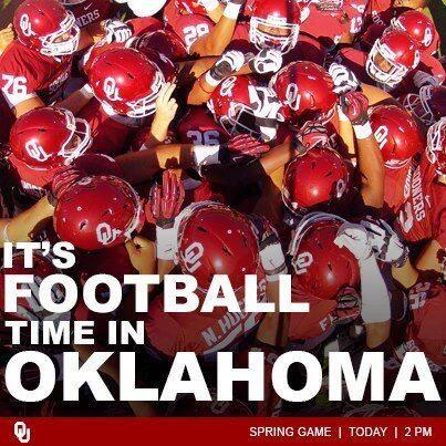 It S Football Time In Oklahoma Oklahoma Sooners Football