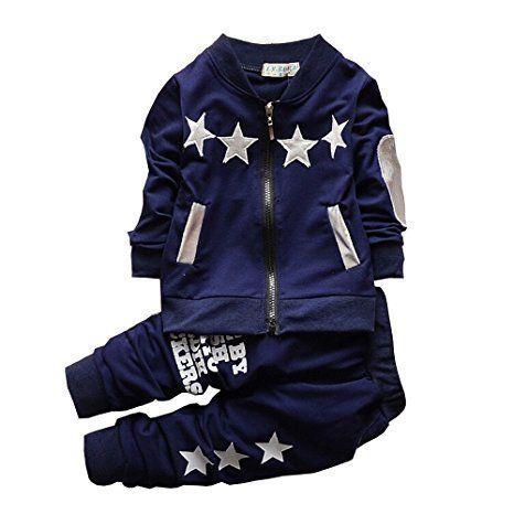 bb5f786e8093d AmazonSmile: BibiCola Baby Boy Clothes Autumn Long Sleeve Clothing Set  Toddler Boys Outfits: Clothing