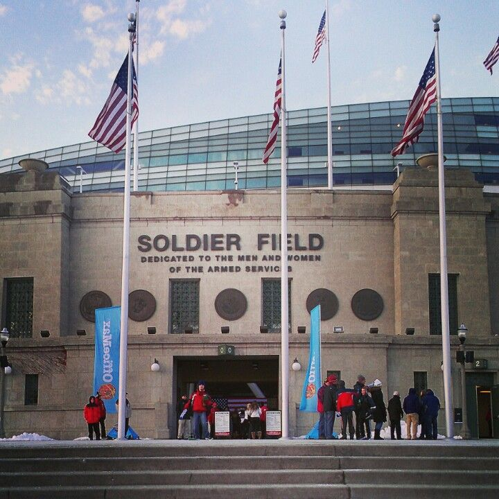 Soldier Field Word Art Poster | Chicago Bears Gifts