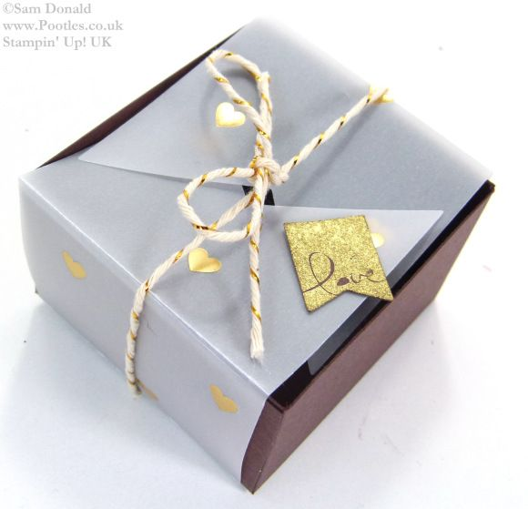 POOTLES Stampin Up UK SPRINGWATCH Folded Vellum Chocolate Truffle Box Tutorial 5
