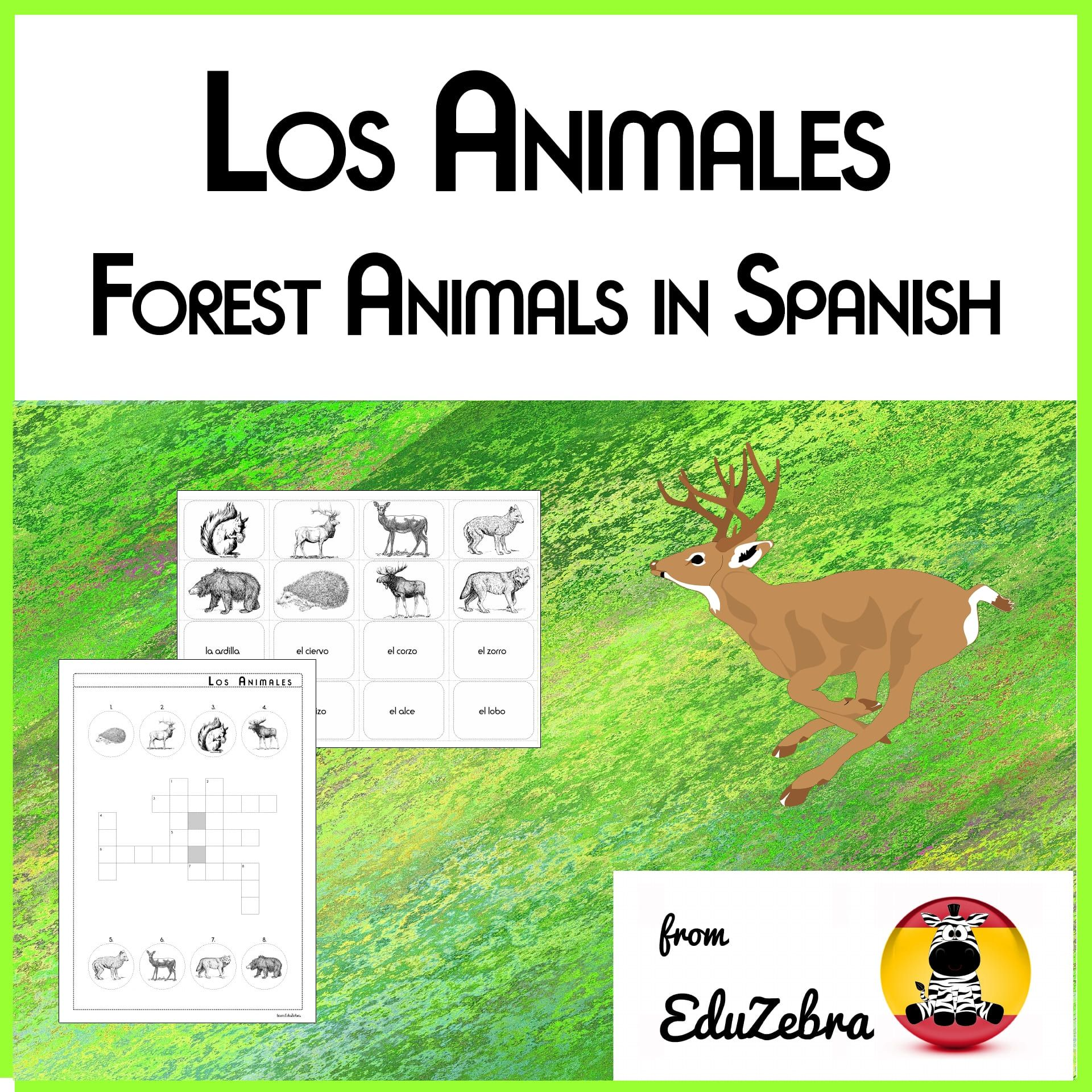 Forest Animals In Spanish Los Animales Animales Del