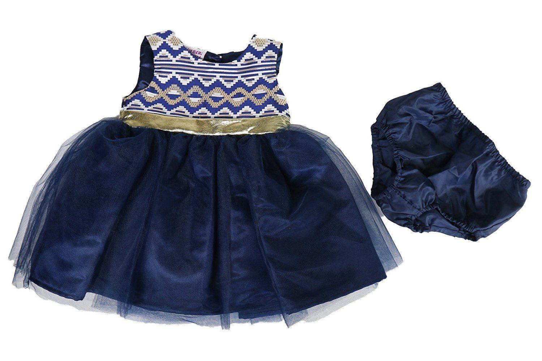 Blueberry Blueberi Boulevard Brocade & Tulle Dress, Baby Girls (0-24 Months)