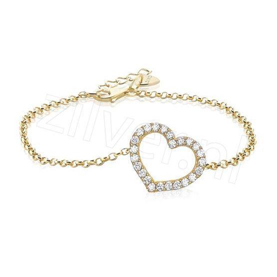 Zinzi Armband Hart Zirconia Goud Verguld Zia1098g