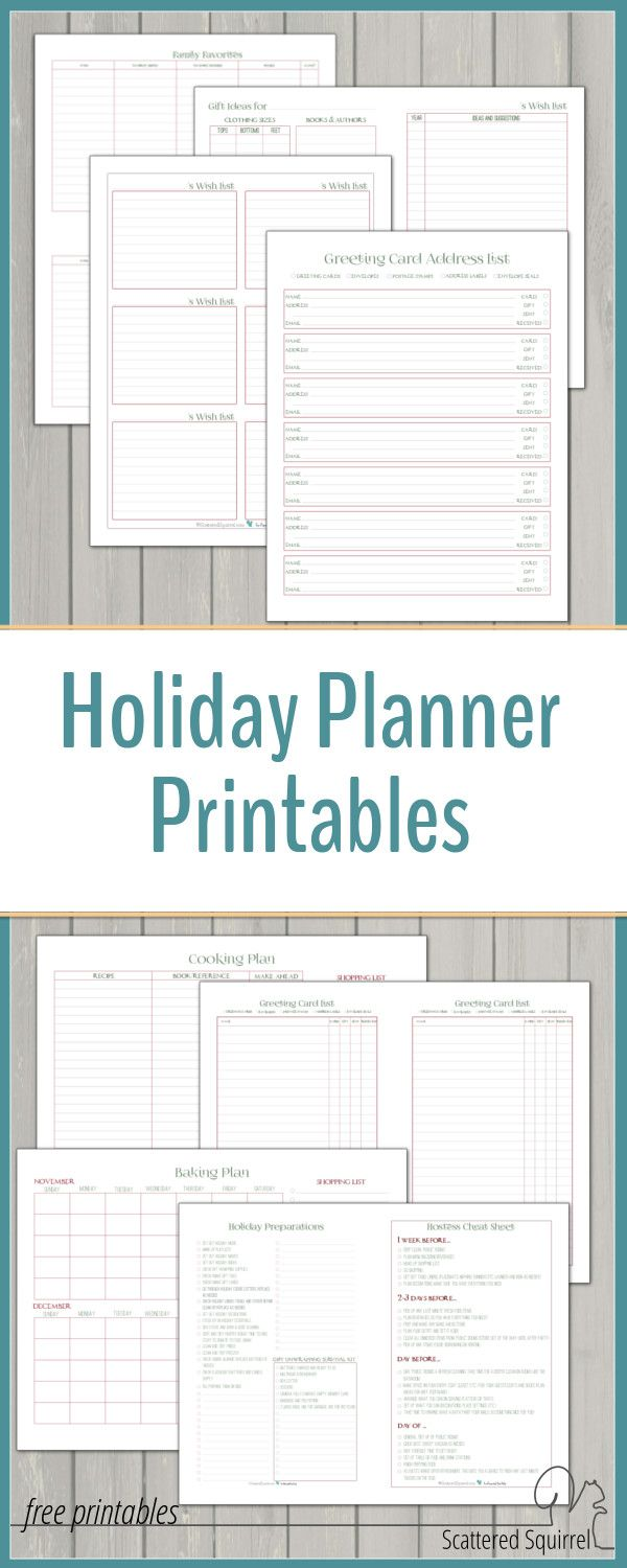 Holiday Planner | Organized Christmas | Holiday planner ...
