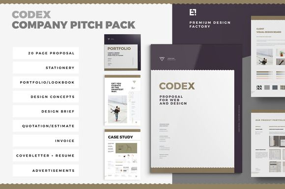 Codex Proposal Pitch Pack @creativework247 Brochure Design