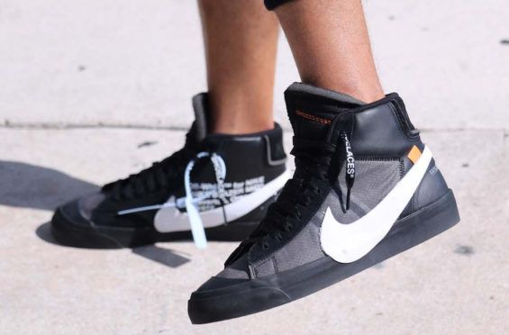 new concept b3fd2 de8d3 On-Feet Images Of The OFF-WHITE x Nike Blazer Mid Grim Reaper Virgil