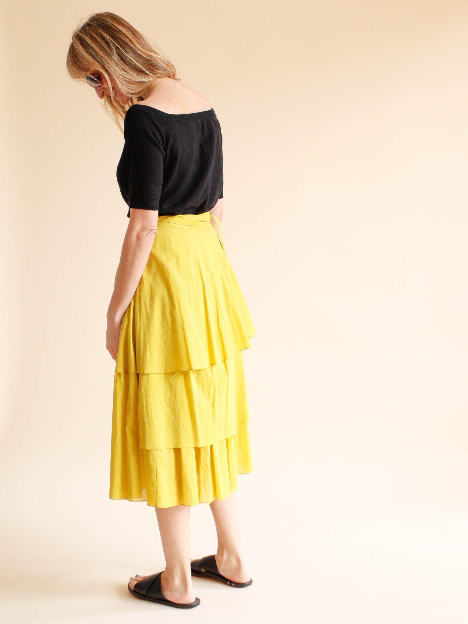 SVILU - Wrap Skirt - Organic Cotton Voile - Korma