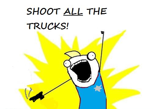 Shoot All The Trucks    PNG Image, 500×355 pixels
