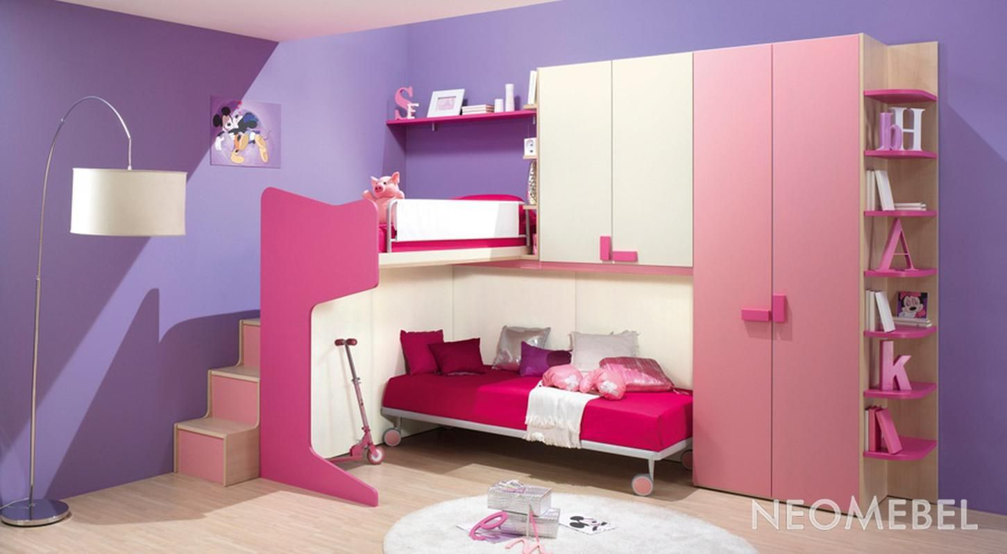 Purple Girls Bedroom Ideas Part - 50: Bedroom Decorating Bedroom Paint, Pink Purple Color Theme Girl Bedroom Ideas  Design With Purple Wall