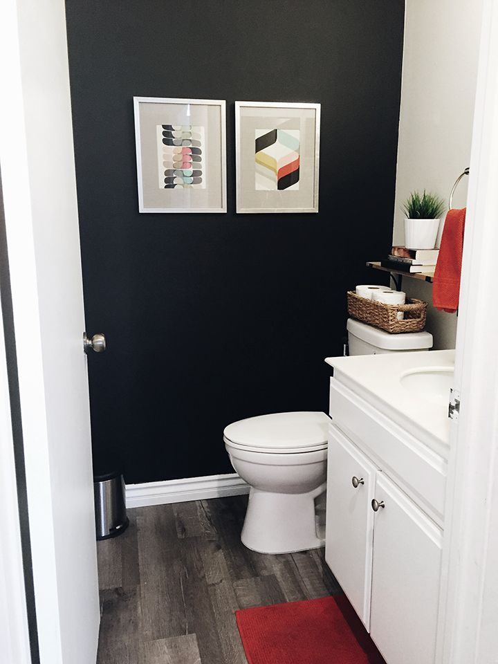 For The Home Before After My Powder Room Makeover On A Budget So Fresh So Chic Room Makeover Small Bathroom Paint Small Bathroom Paint Colors