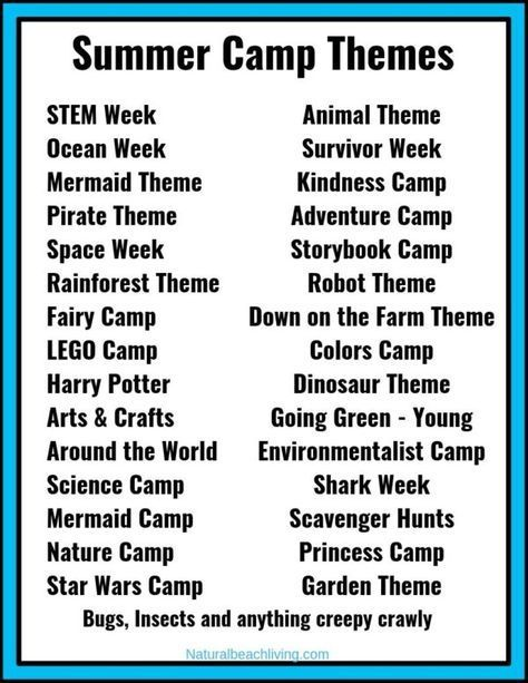 30 Summer Camp Themes The Best Summer Themes For Kids Natural