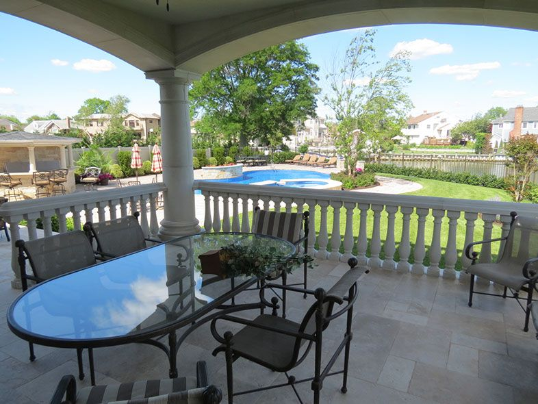 Enhance Your Backyard Scene Today With #concrete #railings For Your Deck Or  Patio.