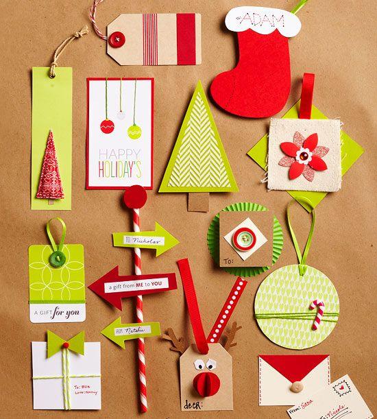 easy creative holiday gift tags no l loisirs cr atifs et bricolage pour enfants pinterest. Black Bedroom Furniture Sets. Home Design Ideas