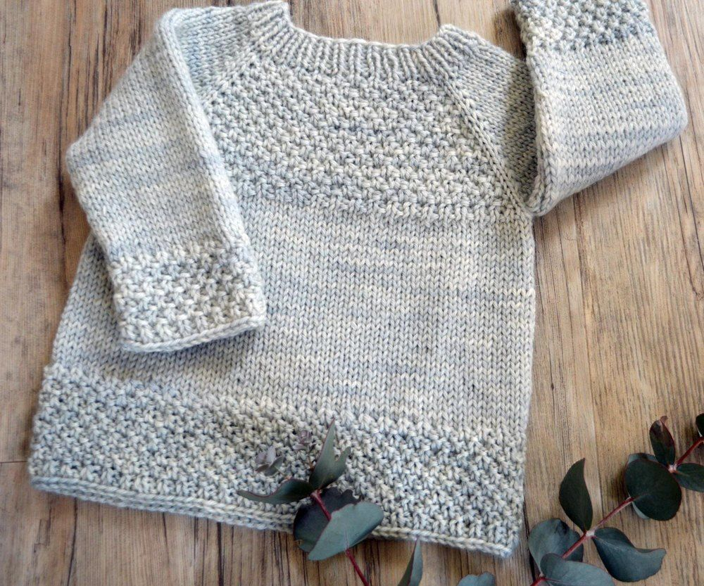 870fe63028a01 Silver Gum top down sweater   Poppet Tunic for children Knitting pattern by OGE  Knitwear Designs